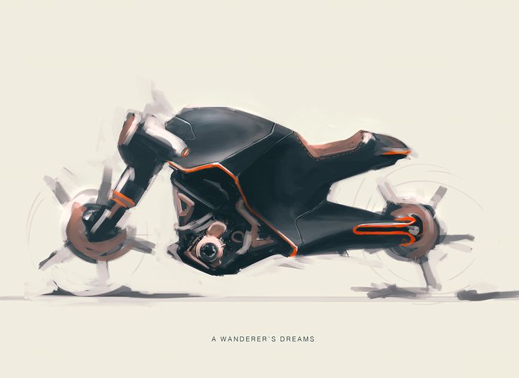 "creative-archive: ""Bike Sketches by Christoph Sokol """