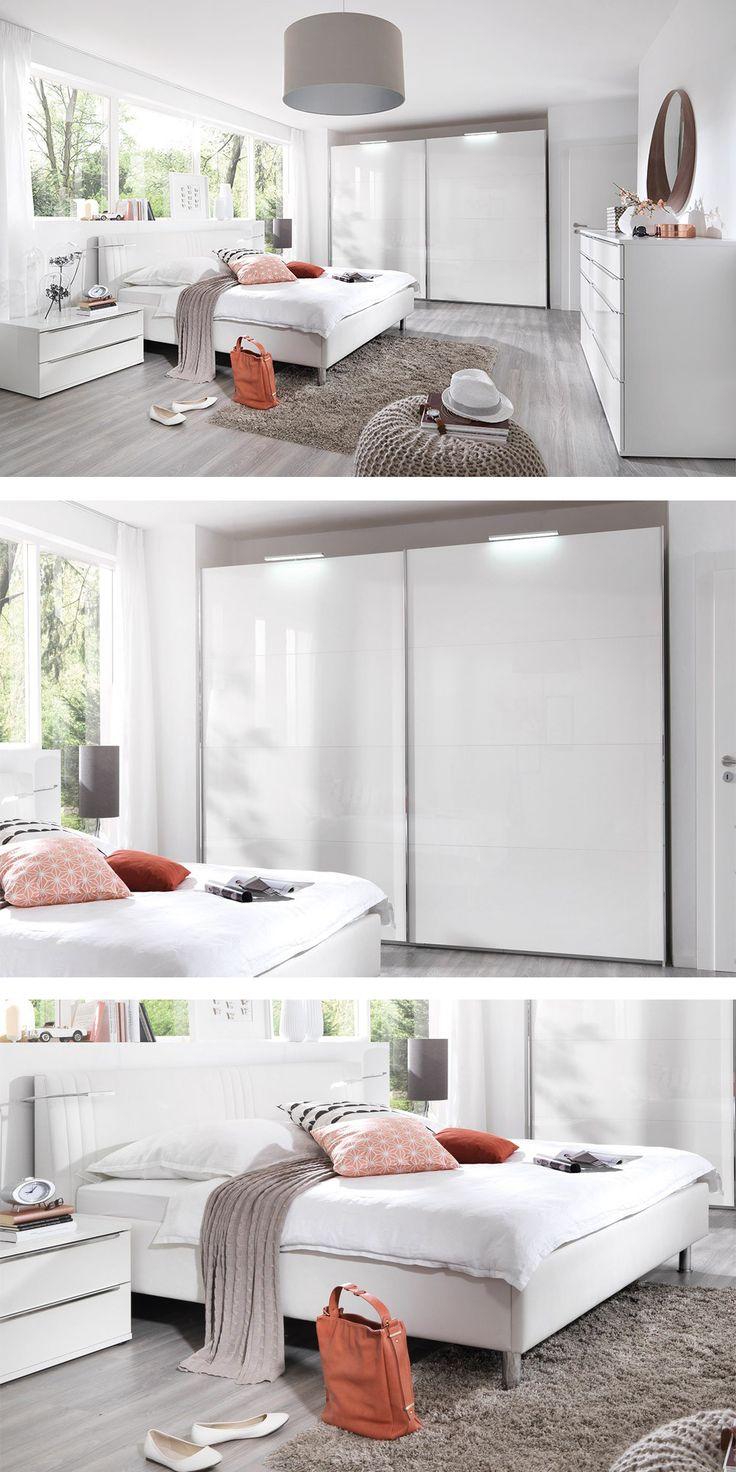 Weißes Schalfzimmer KSW Level 3   Mit Dieser Stilvollen Einrichtung  Zauberst Du Ein Modernes Und Schlichtes