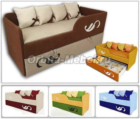 Детские раскладные диваны - 2-х ярусная кровать диван Латте арт. 30005