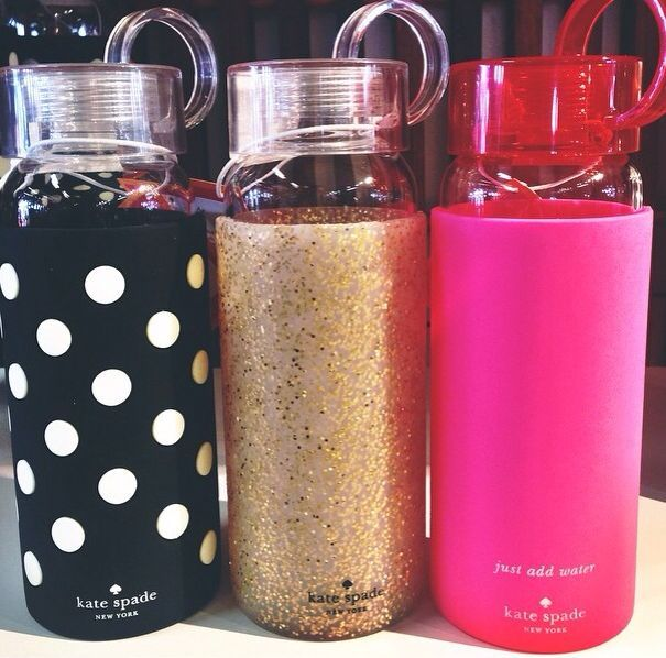 adore these kate spade water bottles!                                                                                                                                                      More