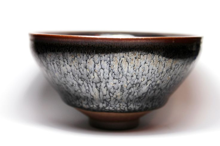 Silver Oil-Spot Tenmoku Glaze http://mypottery.blog.com Inge Nielsen