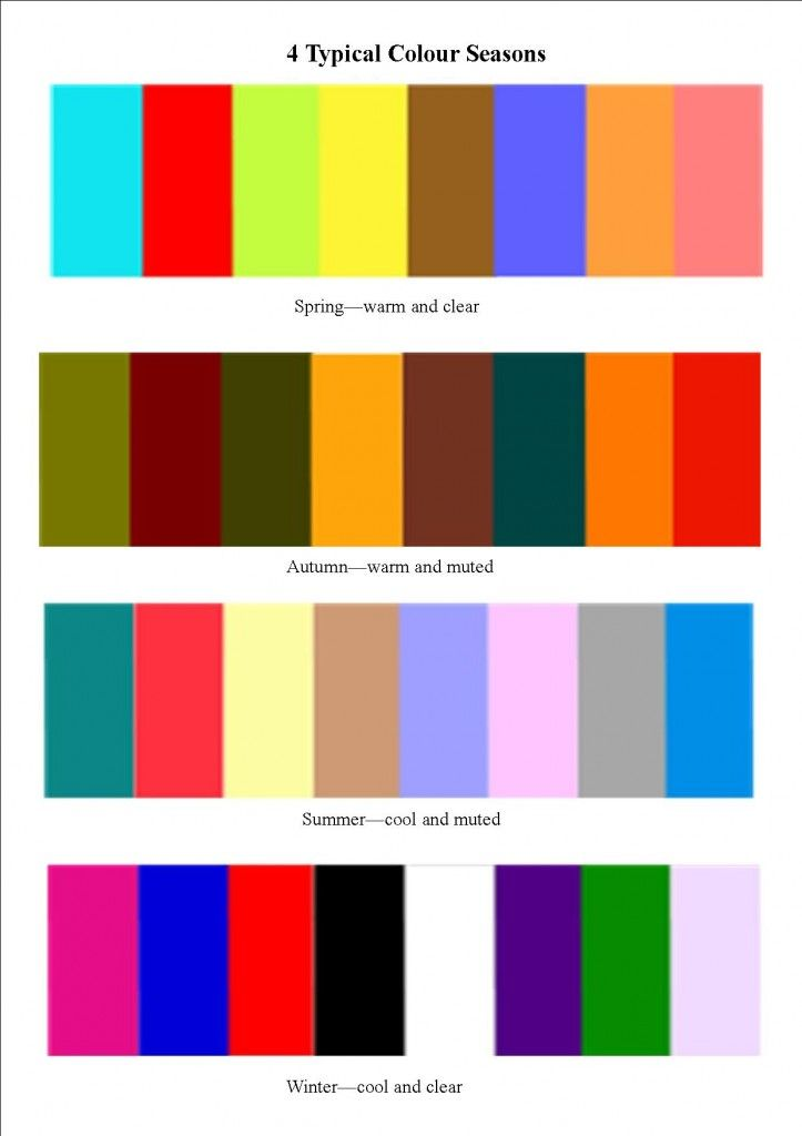 59 best color analysis images on pinterest - Season Pictures To Colour