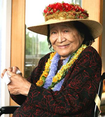 Aunty Margaret founder of the Lomi Lomi Massage I was taught
