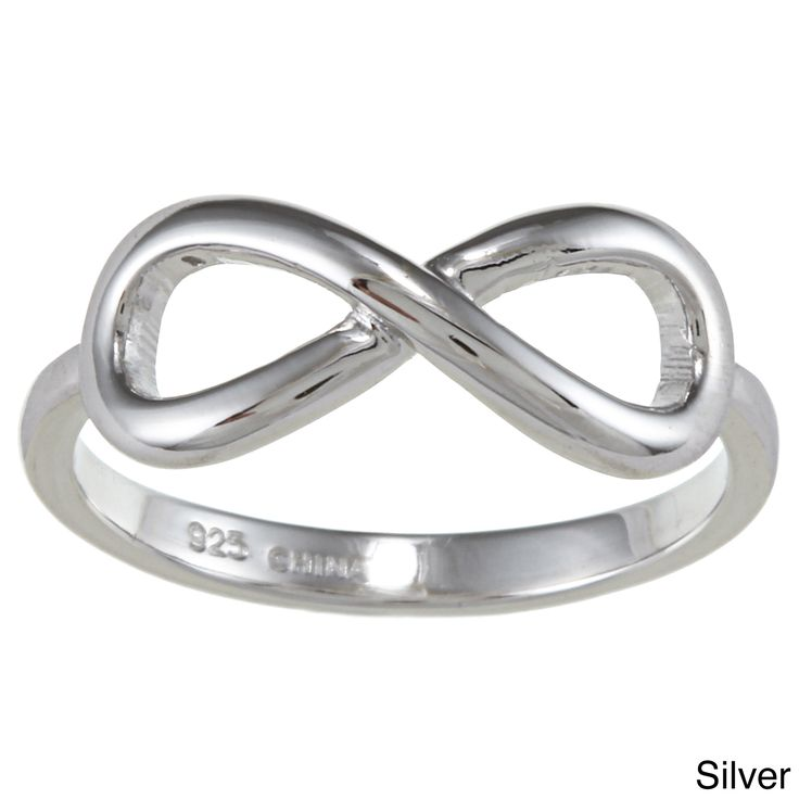 <li>Infinity design ring</li><li>Sterling silver jewelry</li><li><a href='http://www.overstock.com/downloads/pdf/2010_RingSizing.pdf'><span class='links'>Click here for ring sizing guide</span></a></li>