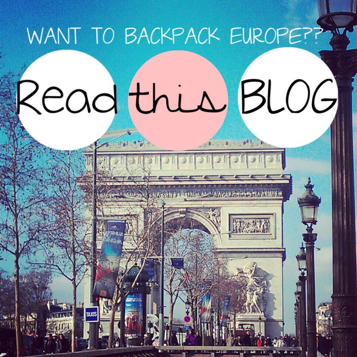 Guide for beginners who want to backpack europe, PART 1 :)
