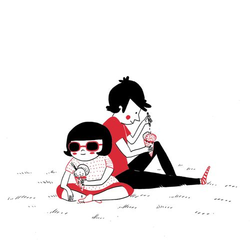 Best Soppy Images On Pinterest Rice Small Things And Couple - Cute illustrations demonstrate what true love really is