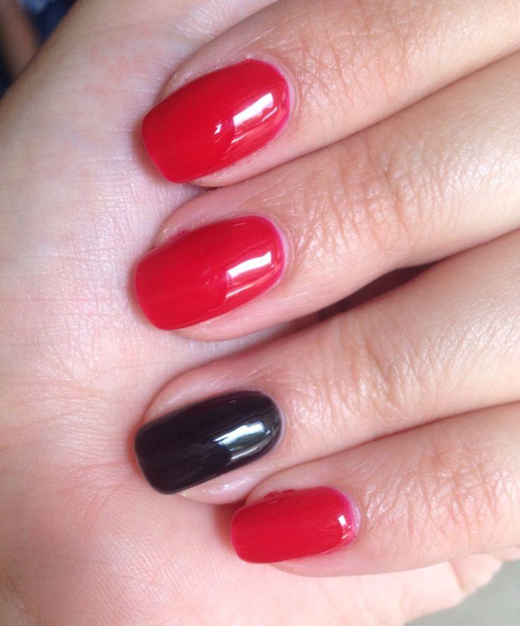 Wild fire and Black Pool gel polish from www.gelpolish.co.nz Love a black party nail!!