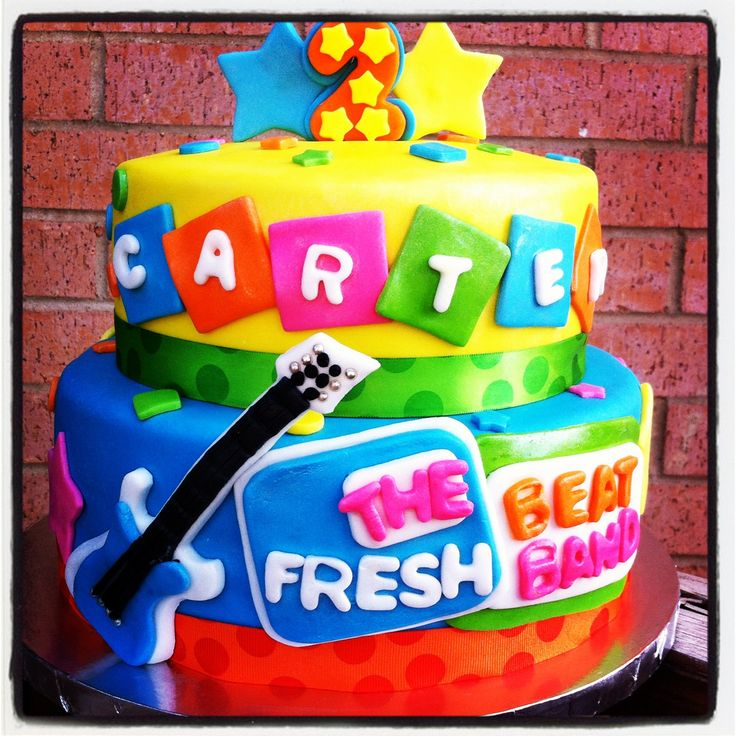 Bounce Sporting Club S 3rd Anniversary Party With Surprise: The Fresh Beat Band Cake