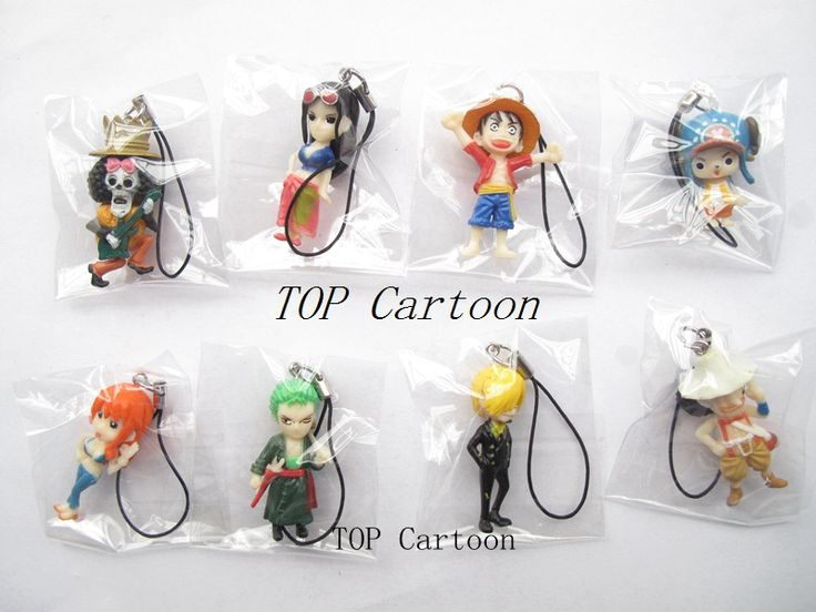 5sets (8pcs/set) ONE PIECE  Action Figures Cell Phone Strap Charms //Price: $39.00 & FREE Shipping //     #onepieceluffy #onepiecefigure #dluffystore