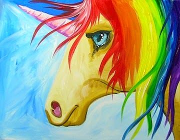 painting with the art sherpa easy how to paint a rainbow unicorn step by step - Painting Images For Kids