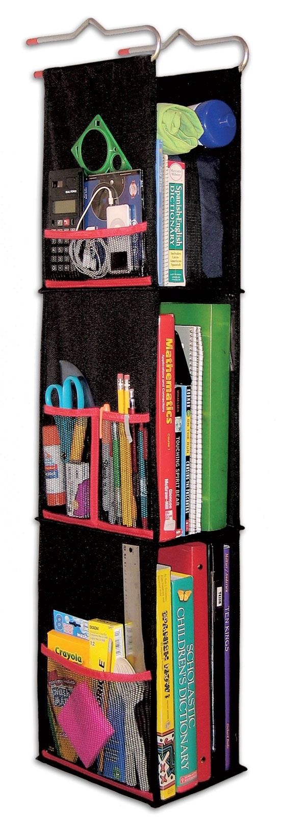 Hanging Locker Organizer, 3 Shelf Fabric by LockerWorks, Locker Accessories