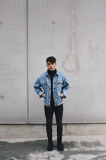 Kevin Elezaj - Bershka Boots, H&M Jeans, Wannabk Turtleneck, Lee Jacket - Denim