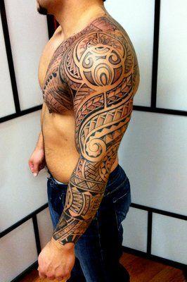 tribal tattoos full sleeve - Google Search