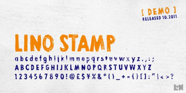 lino stamp 620x310 Top 50 Best Free Fonts