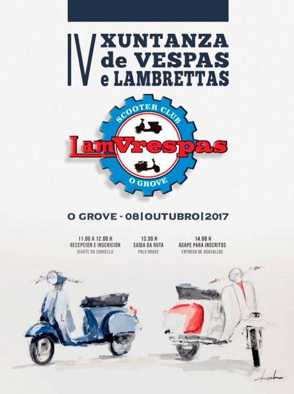 IV Xuntanza de Vespas e Lambrettas O Grove, en El Grove, Pontevedra