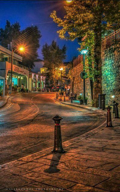 Night Kakopetria, Cyprus