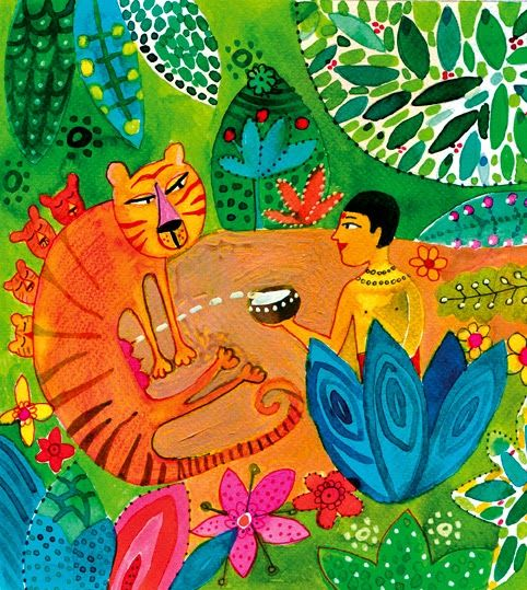 illustration for the Hindu fable