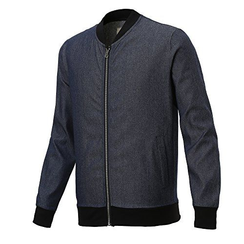 Majeclo Mens Supremacy Denim Bomber Jacket *** Check out this great product.