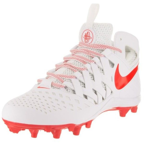 Nike Nike Men's Huarache V Lax Cleated Shoe | Bluefly.Com ($98) ❤ liked on Polyvore featuring men's fashion, men's shoes, shoes, white, mens white shoes, mens lightweight running shoes, mens lace up shoes, nike mens shoes and mens fur lined shoes