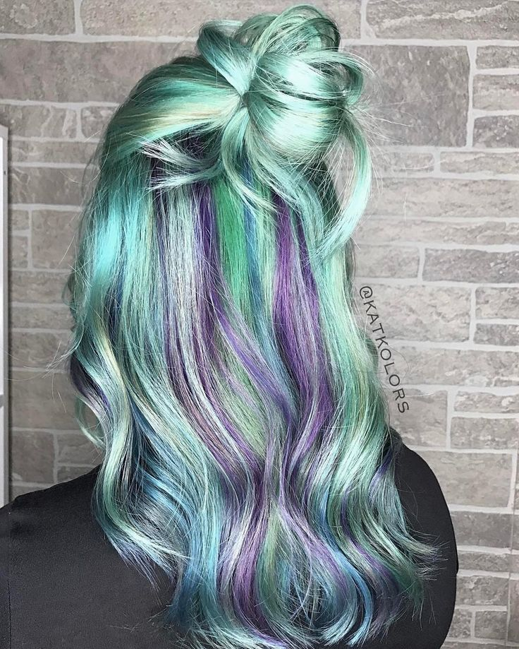 "315 Likes, 4 Comments - Hair Makeup Nails Beauty (@hotonbeauty) on Instagram: "" Spring Green  Mint Green, Blue and Purple Pastels and fresh style by @katkolors #hotonbeauty .…"""