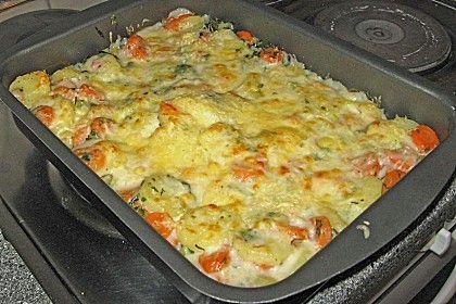 Kartoffel - Karotten - Auflauf 1