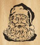 Scroll saw pattern  027 santa