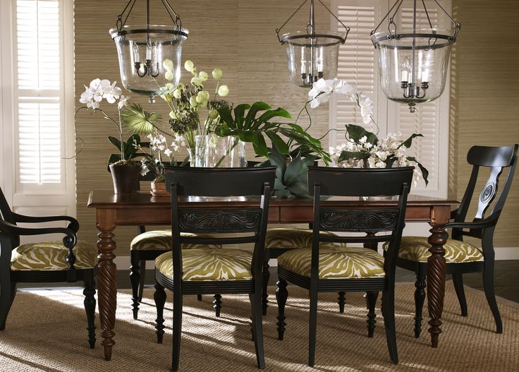 Get Wild With Zebra Print Slip Seats For Your Dining Room Chairs. # EthanAllen #