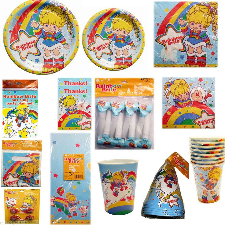 vintage RAINBOW BRITE PARTY SUPPLIES ~ Create Your Set ~ PICK Only What U Want!