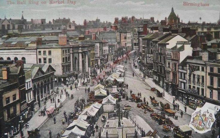 Bull Ring Birmingham,Market Day,undated.