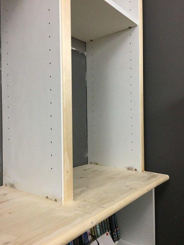 Billy bookcase hack progress