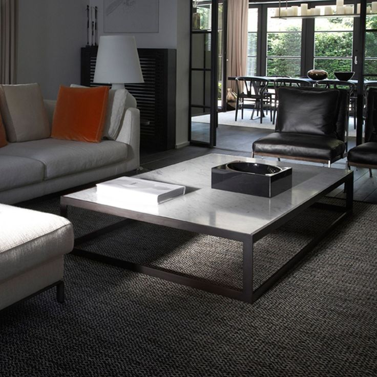 Verona Marble Coffee Table: XVL Home Collection Alto Metal Carrara Marbel Coffee Table