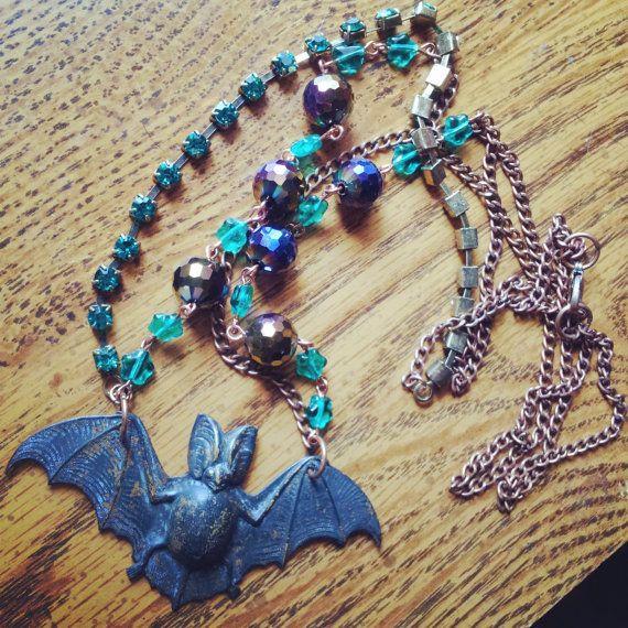 Night Sky Necklace by GypsyJunkStudio on Etsy, $20.00