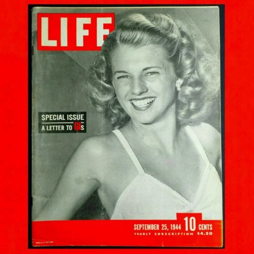 LIFE-MAGAZINE-September-25-1944-VG-WWII-D-DAY-INVASION-OF-GERMANY-Famous-Girls