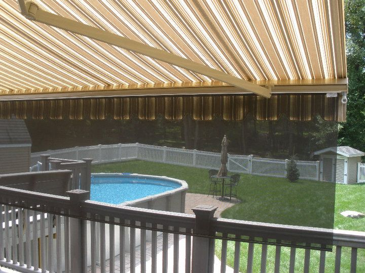 Charming Motorized Retractable Awnings With Drop Valance Screen Fabric By Sunbrella  Motor By Somfy Installation By AOTS | Our Retractable Awnings | Pinterest  ...