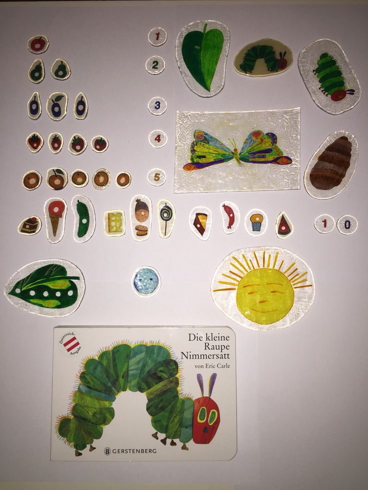 "Story ""Stones"" from Shrink Plastic ""The Very Hungry Caterpillar"""