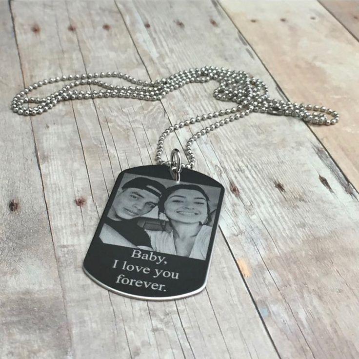 Custom Engraved Photo Dog tag Necklace
