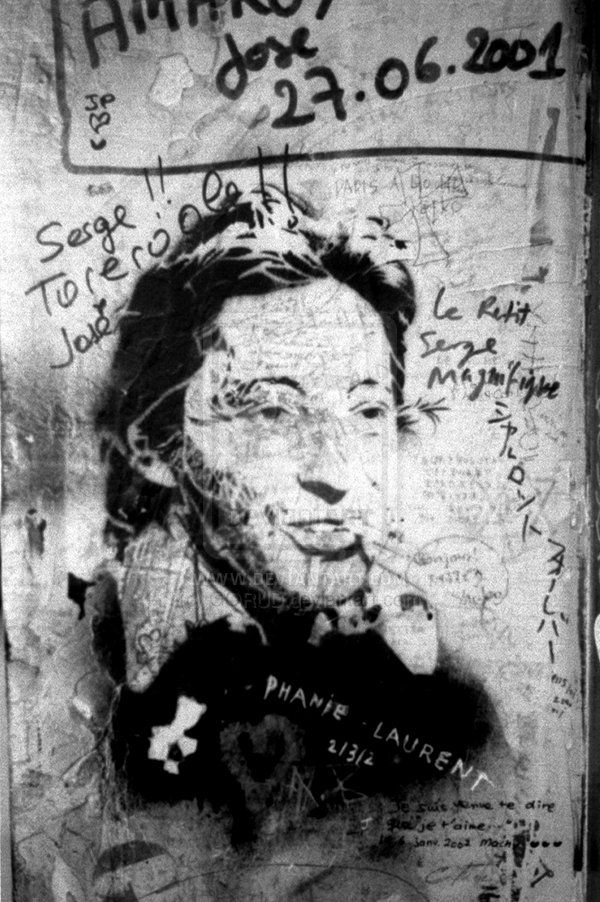 Gainsbourg Graffiti 1 by GORUD.deviantart.com on @deviantART #Photography #BW #Art #Portrait  #Gainsbourg