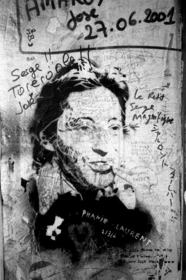 Gainsbourg Graffiti 1 by GORUD.deviantart.com on @deviantART #Photography #BW #Art #Portrait  #Gainsbourg