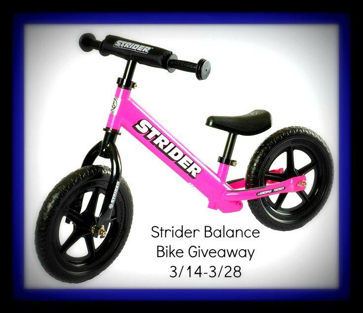 STRIDER Bike Giveaway WIN a STRIDER bike, in the color of