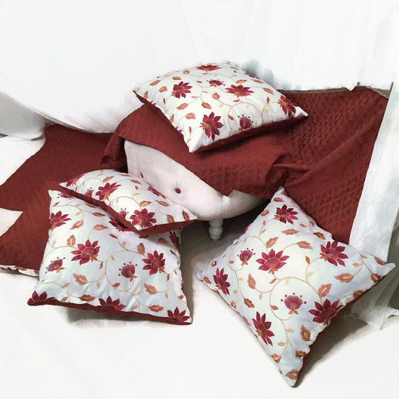 Wildflower Luxury decorative pillow. Home Decor Update! Original Designer Decorative Pillows by MyCushionBoutique.