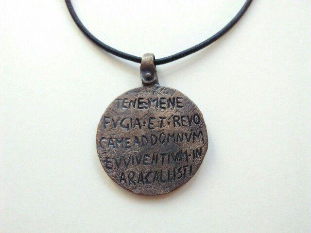 Collar Esclavo romano. Reproducción realizada en bronce envejecido. El original se encuentra en el British Museum.