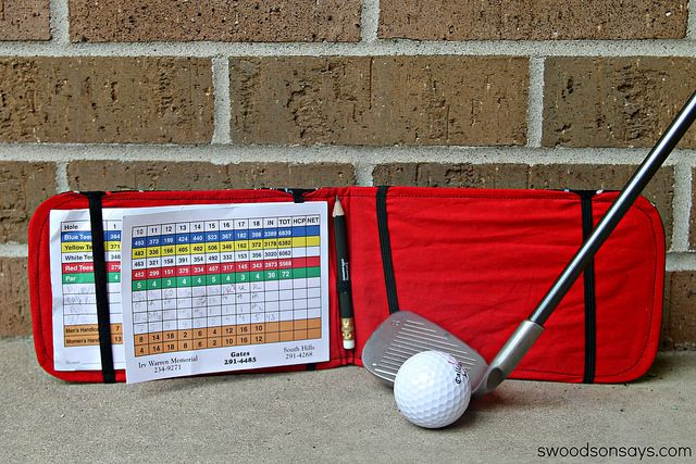 DIY Golf Score Card Tutorial - Swoodson Says by swoodsonsays, via Flickr