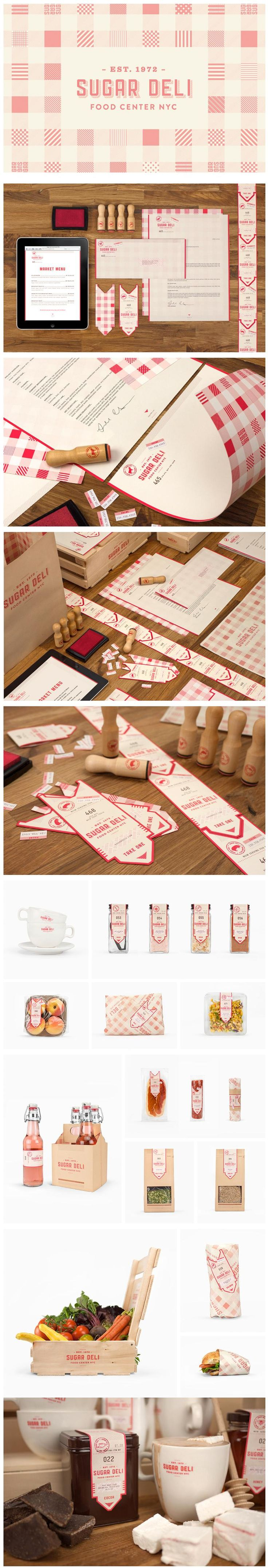 Sugar Deli- I like that this shows a cohesive branding identity, with business cards that are a play on the classic take a number system in a deli. Also I think the use of a stamp is a great way to bring the branding to other items.