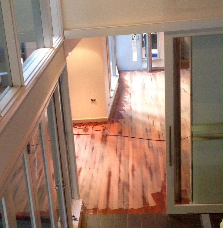 The absolute worst part - having floorboards sanded and polished, toxic fumes, we had to move out for 5 days.  >:(