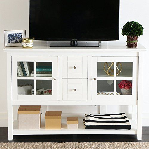 The added height and style of this console table makes it a perfect fit for any room in your house, whether it be for entertaining, dining, or decorative purposes. Crafted from high-grade MDF, this stand accommodates most TVs up to 55 Inch. Features adjustable shelves behind glass-paned doors to... more details available at https://furniture.bestselleroutlets.com/game-recreation-room-furniture/tv-media-furniture/television-stands-entertainment-centers/product-review-for-we-fu