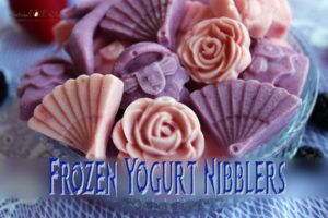 Frozen Yogurt Nibblers - One made a strawberry frozen yogurt and the other made…