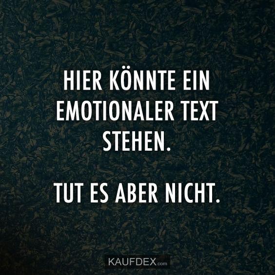 Hier könnte ein emotionaler Text stehen. Tut es aber nicht