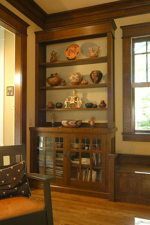 Bookcase - Custom Arts & Crafts Millwork by El Dorado Woodworks - Heussner  Residence