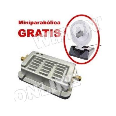 Amplificador de señal wifi Alfa Network APA06-1 de 1W + Mini Parabolica de 8dBi Llévate una antena miniparabólica GRATIS con el amplificador de 1W de ALFA NETWORK. Precio: 42€!!!