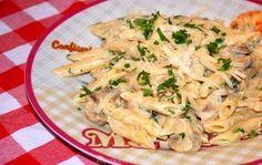 Penne met champignonroomsaus - Keuken♥Liefde